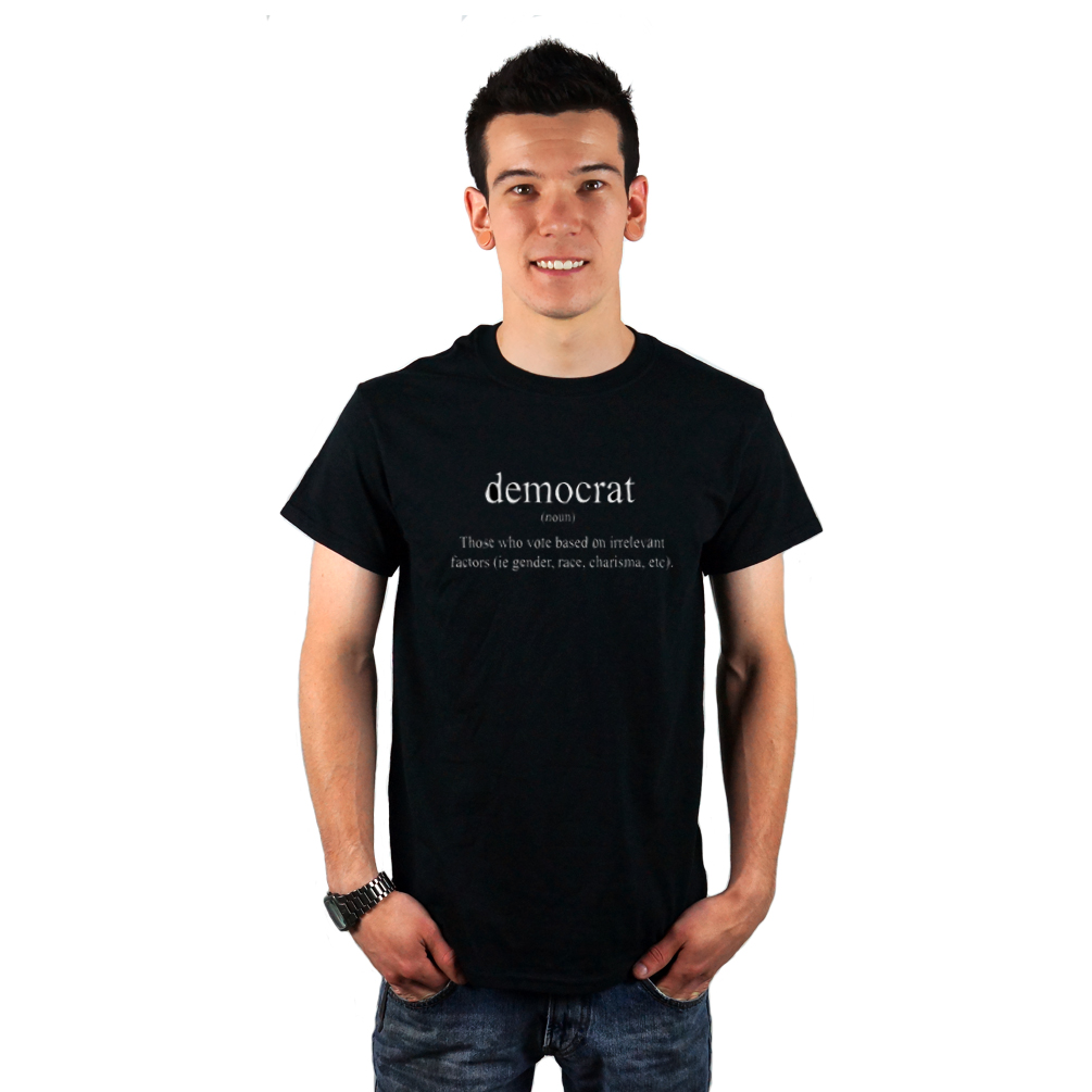 4b46252f Funny Democrat Definition Political Men's T-Shirt