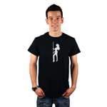 Sexy Stripper Pole Girl Silhouette Men's T-Shirt