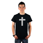 Religious Christian Cross Silhouette Men's T-Shirt