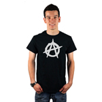 Anarchy Symbol Outline Men's T-Shirt