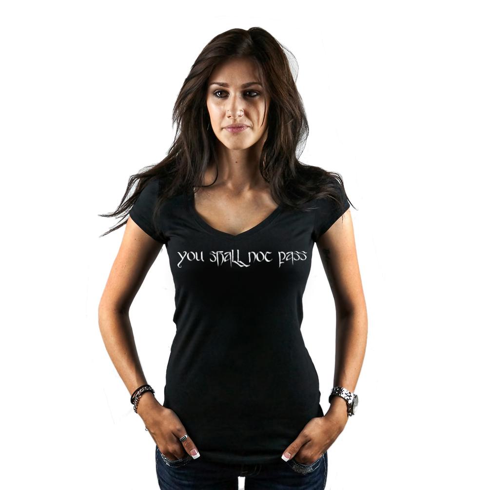 4eb56a30 Gandalf You Shall Not Pass LOTR Women's T-Shirt