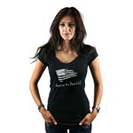 Patriotic America the Beautiful USA Flag Women's T-Shirt