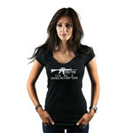 Funny Assault Rifle You Too Can Be a Badass AR-15 Women's T-Shirt