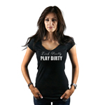 Look Pretty Play Dirty Mudding Girl Jeep Truck Women's T-Shirt