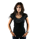 Auto Club Speedway Track Map Women's T-Shirt