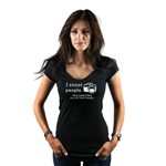 I Shoot People and Cut Off Their Heads Funny Photographer Camera Women's T-Shirt