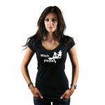 Funny Sexy Witch Silhouette Witch Please Women's T-Shirt