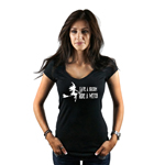 Save a Broom Ride a Witch Funny Sexy Silhouette Women's T-Shirt