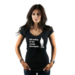 Still Waiting For the Zombie Apocalypse Funny Walkers Women's T-Shirt