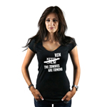 Keep Calm Run the Zombies Are Coming Walkers Halloween Women's T-Shirt