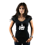 Haunted House Silhouette Spooky Halloween Women's T-Shirt