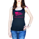 Patriotic America the Beautiful USA Flag Women's Tank Top