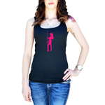 Sexy Stripper Pole Girl Silhouette Women's Tank Top