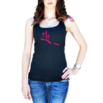 Calvary Hill Silhouette Crosses Christian Women's Tank Top