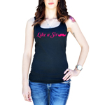 Like a Sir Funny Mustache Women's Tank Top