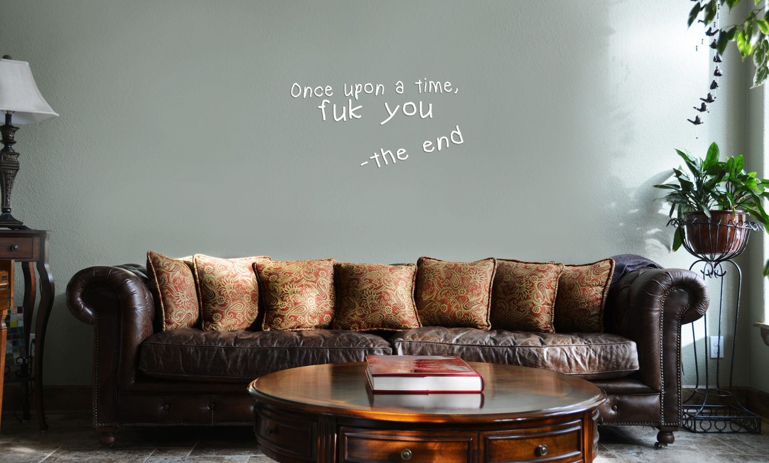 Once Upon A Time Fuk You Funny Story Vinyl Wall Mural Decal Home