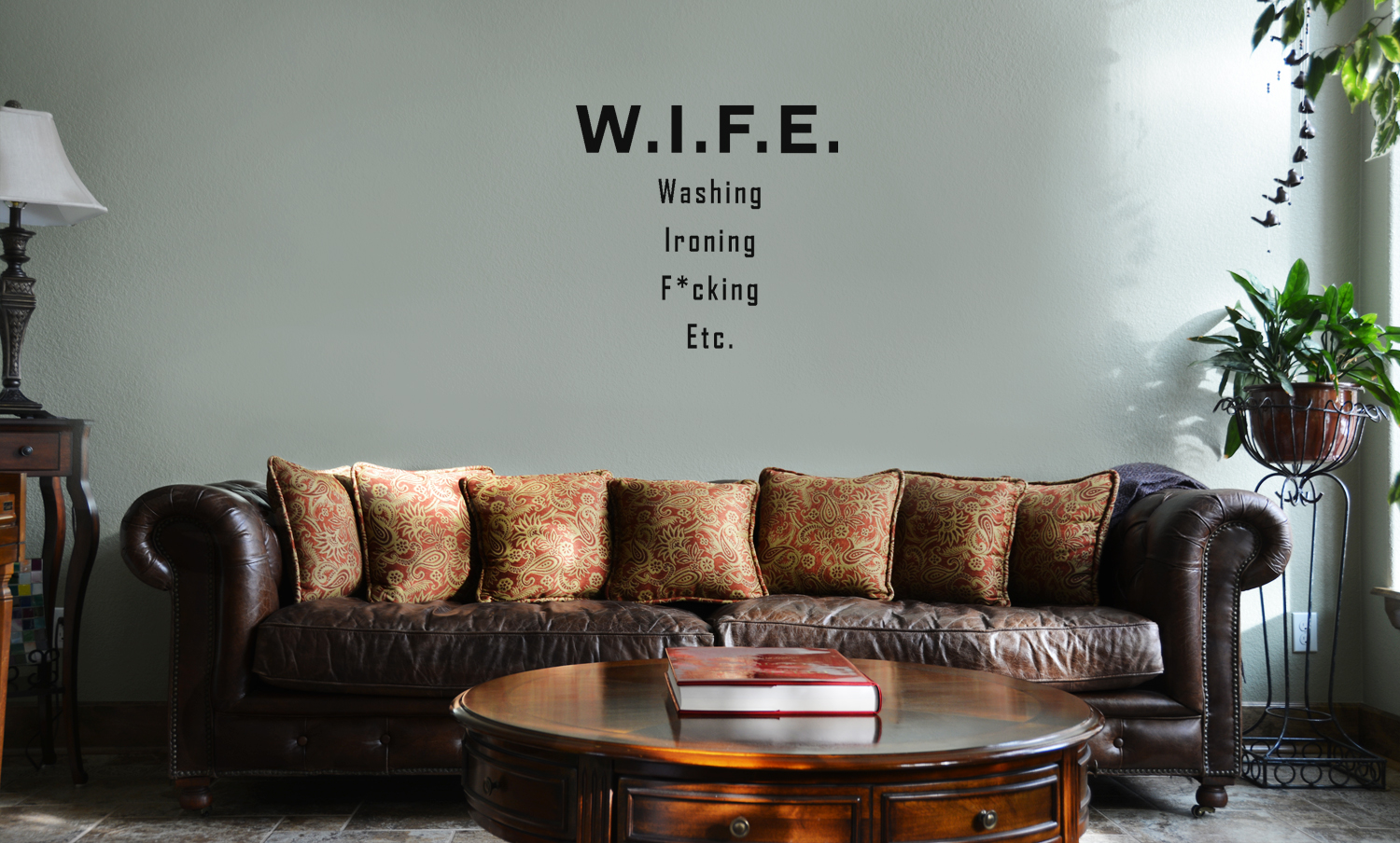 Guitar Wall Mural Wife Funny Washing Ironing F Cking Etc Husband Vinyl Wall