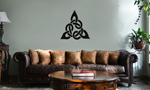 Triangular Celtic Cross Knot Vinyl Wall Mural Decal Home Decor Sticker