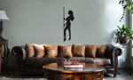 Sexy Stripper Pole Girl Silhouette Vinyl Wall Mural Decal Home Decor Sticker