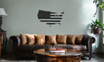 Patriotic USA Country American Flag Vinyl Wall Mural Decal Home Decor Sticker