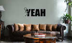 Funny Humping Stick Figure F*ck Yeah Vinyl Wall Mural Decal Home Decor Sticker