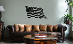 Waving USA Flag Patriotic Vinyl Wall Mural Decal Home Decor Sticker