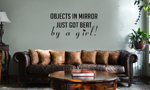 JDM Objects in Mirror Got Beat By a Girl Vinyl Wall Mural Decal Home Decor Sticker