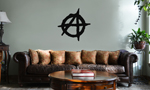 Anarchy Symbol Outline Vinyl Wall Mural Decal Home Decor Sticker