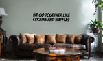 Funny Ricky Bobby Quote Cocaine and Waffles Vinyl Wall Mural Decal Home Decor Sticker