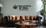 Proud Supporter of MMJ Pot Jesus Funny Vinyl Wall Mural Decal Home Decor Sticker