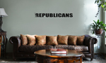 Funny Humping Stick Figure F*ck Republicans Vinyl Wall Mural Decal Home Decor Sticker