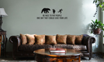 Be Nice to Fat People Funny Chasing Bear Vinyl Wall Mural Decal Home Decor Sticker