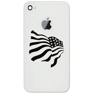 "Patriotic Waving American USA Flag 2"" Vinyl Sticker Cell Phone Decal"