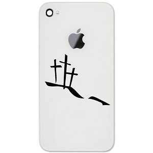 "Calvary Hill Silhouette Crosses Christian 2"" Vinyl Sticker Cell Phone Decal"