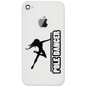 "Sexy Pole Dancer Girl Silhouette 2"" Vinyl Sticker Cell Phone Decal"