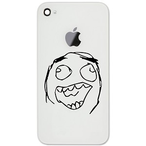 "Funny Laughing Meme Face 2"" Vinyl Sticker Cell Phone Decal"