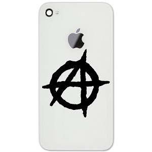 "Anarchy Symbol Outline 2"" Vinyl Sticker Cell Phone Decal"