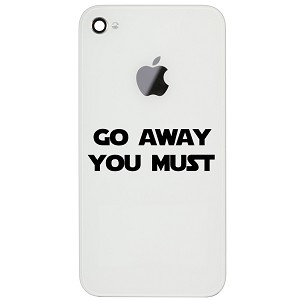"Funny Yoda Parody Go Away You Must 2"" Vinyl Sticker Cell Phone Decal"