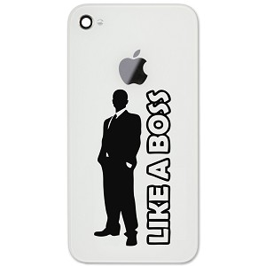 A Boss Guy Silhouette Vinyl Sticker Cell Phone Decal - Vinyl decals for phone cases