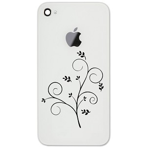 "Pretty Floral Branch 2"" Vinyl Sticker Cell Phone Decal"