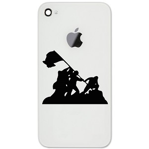 "Iwo Jima WWII Silhouette 2"" Vinyl Sticker Cell Phone Decal"