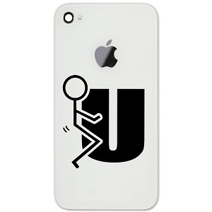 "Stick Figure Humping F U 2"" Vinyl Sticker Cell Phone Decal"