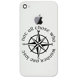 "Not All Those Who Wander Are Lost LOTR Compass 2"" Vinyl Sticker Cell Phone Decal"