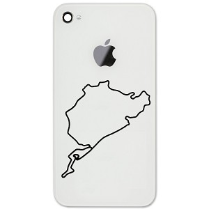 "Nürburgring Track Map Auto Racing 2"" Vinyl Sticker Cell Phone Decal"
