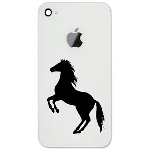 "Rearing Horse Silhouette Country 2"" Vinyl Sticker Cell Phone Decal"