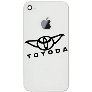 "JDM ToYoda Parody Funny 2"" Vinyl Sticker Cell Phone Decal"