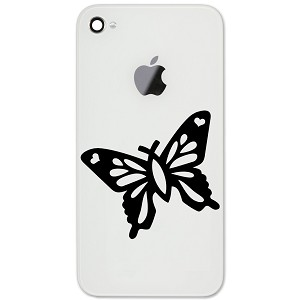 "Christian Butterfly Silhouette 2"" Vinyl Sticker Cell Phone Decal"