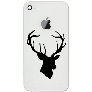 "Deer Buck Head Hunting 2"" Vinyl Sticker Cell Phone Decal"