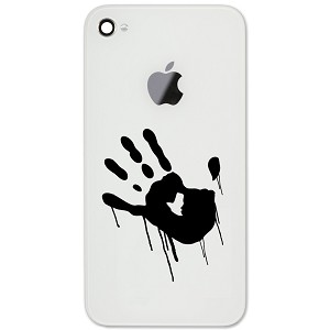"Dripping Hand Paint Blood 2"" Vinyl Sticker Cell Phone Decal"