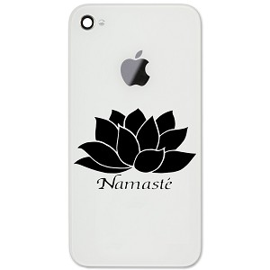 "Namaste Lotus Flower Peace 2"" Vinyl Sticker Cell Phone Decal"